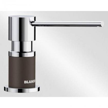 Blanco LATO silgránit mosogatószer adagoló, kávé/króm 525815