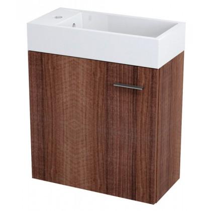 Sapho LATUS 49,5x50x24,5 cm mosdótartó szekrény, mosdó nélkül, dió 55573