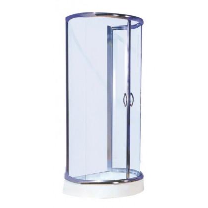 100×85,5×185 cm Falsíkra szerelhető zuhanykabin 2 tolóajtóval  B28C
